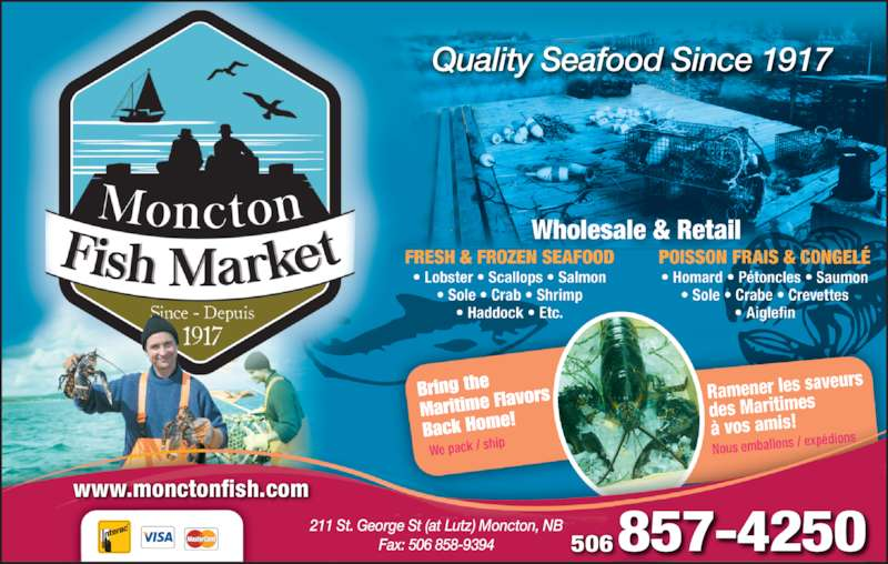 Moncton fish market moncton nb 211 st george st for Wholesale fish market near me