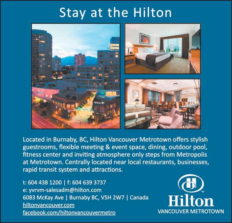 ad Hilton Vancouver Metrotown