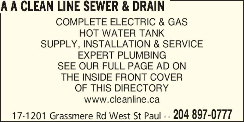 Clean Line Sewer Amp Drain Opening Hours 17 1201