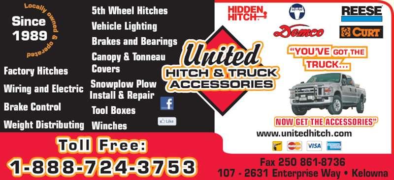 United Hitch Amp Truck Accessories Kelowna Bc 107 2631