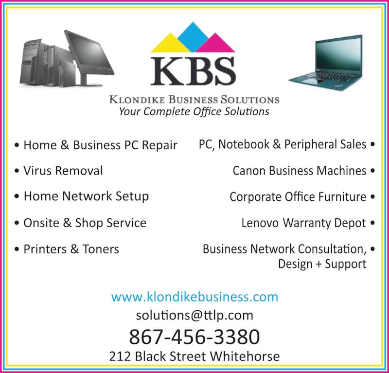 Klondike Business Solutions (867-456-3380) - Display Ad -
