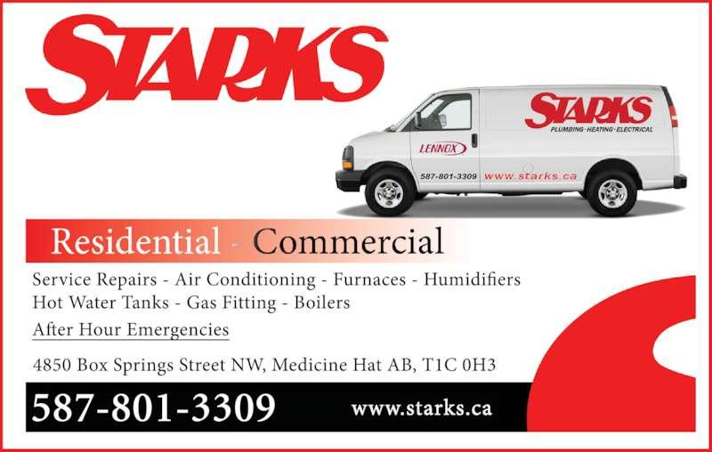Starks Plumbing Heating Amp Electrical Medicine Hat Ab