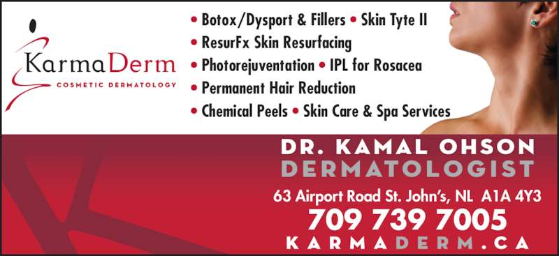 Karmaderm cosmetic dermatology opening hours 63 for A1a facial and salon equipment