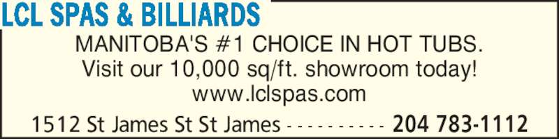ad LCL Spas & Billiards