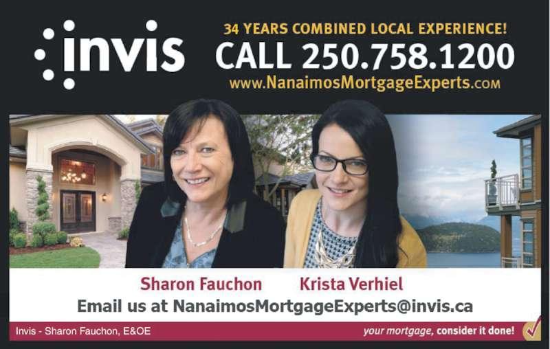 Invis – Nanaimo's Mortgage Experts (250-758-1200) - Display Ad - Invis - Sharon Fauchon, E&OE