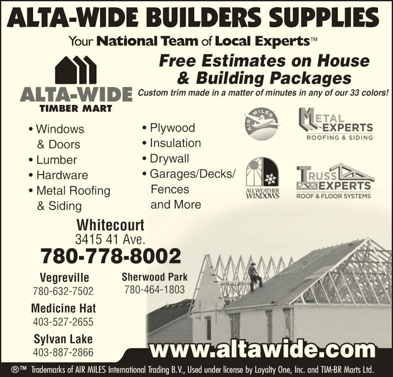 Alta Wide Builders Supplies Ltd Whitecourt Ab 3415