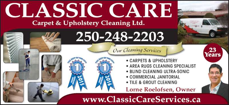 Classic Care Carpet Amp Upholstery Cleaning Ltd Nanaimo