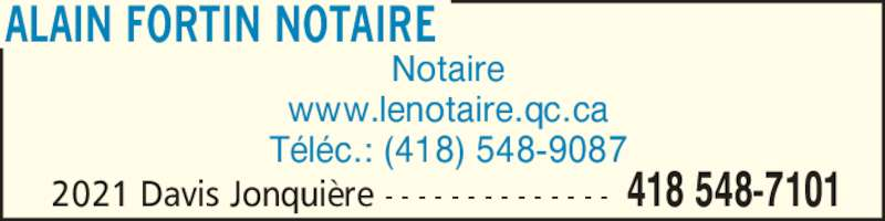 ad Alain Fortin Notaire