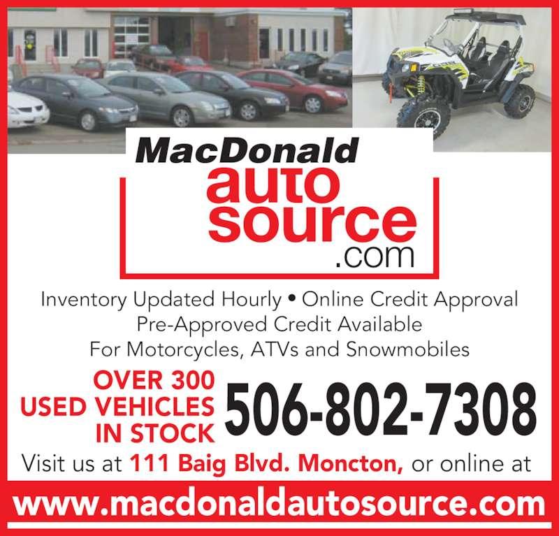 Moncton Buick Enclave >> MacDonald Auto Source - Moncton, NB - 111, Baig Blvd | Canpages