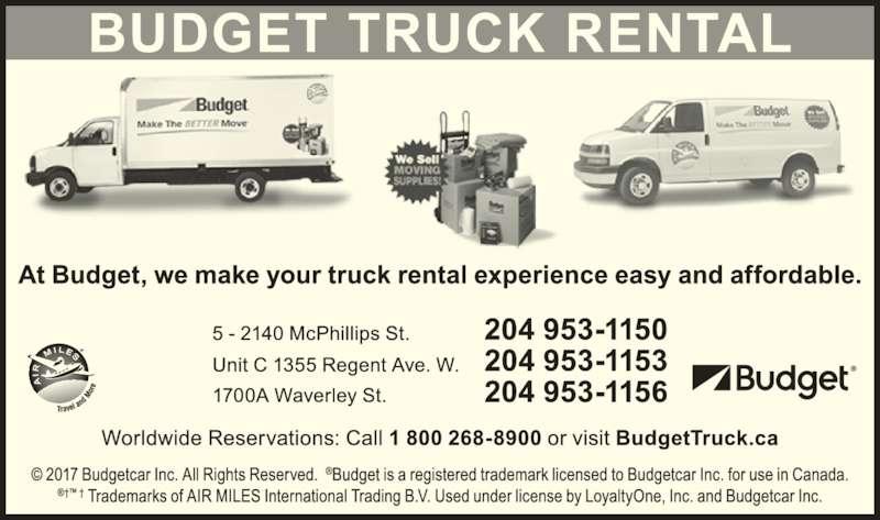 budget car truck rental winnipeg mb 1355 regent ave. Black Bedroom Furniture Sets. Home Design Ideas