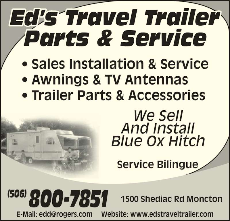 Ed S Travel Trailer Parts Amp Service Moncton Nb 1500 Shediac Rd Canpages
