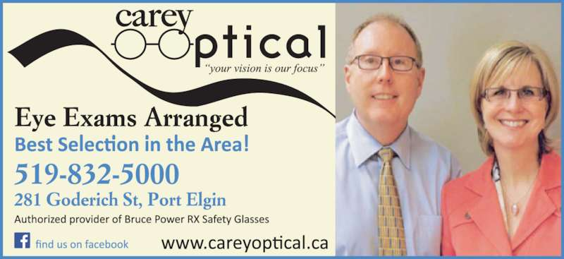 Carey Optical Port Elgin On 281 Goderich St Canpages