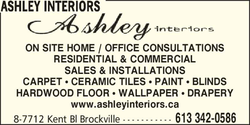 Ashley Interiors Brockville On 8 7712 Kent Blvd