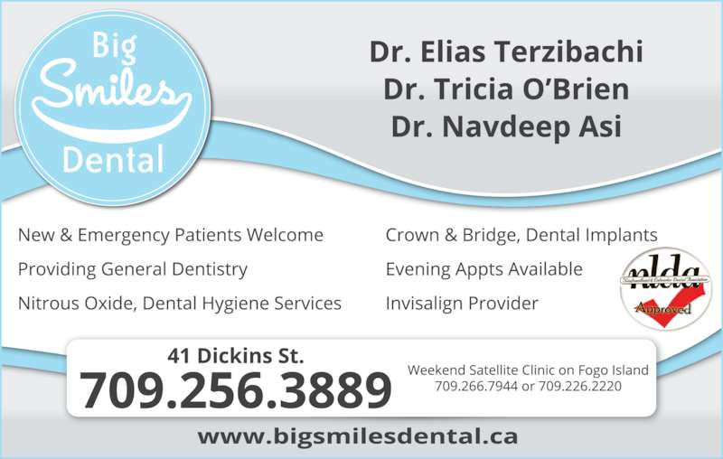 Big Smiles Dental (709-256-3889) - Display Ad -