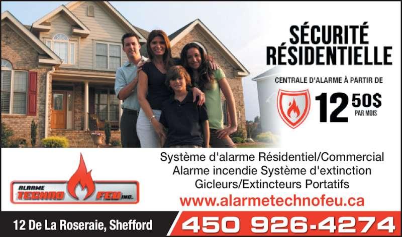 Alarme techno feu inc shefford qc 12 rue de la for Alarme feu maison