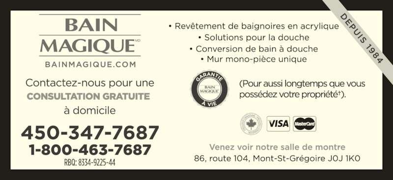 Bain-Magique St-Jean (4503477687) - Annonce illustrée======= - Venez voir notre salle de montre