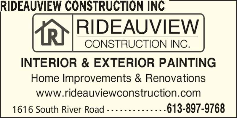 Rideauview Construction Inc. (613-897-9768) - Annonce illustrée======= -