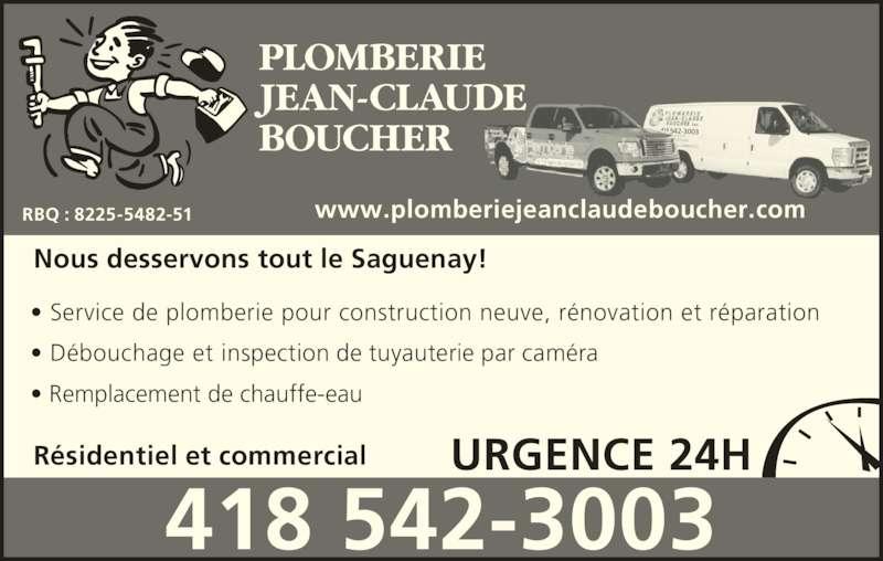 Plomberie jean claude boucher horaire d 39 ouverture 3867 for Combien coute un drain francais