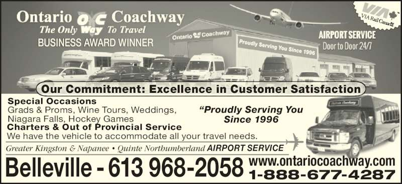 ad Airport Shuttle Services by Ontario Coachway