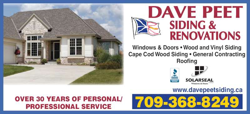 Peet Dave Siding Amp Renovations Canpages