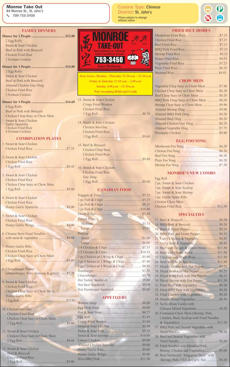 Monroe Chinese Food St John