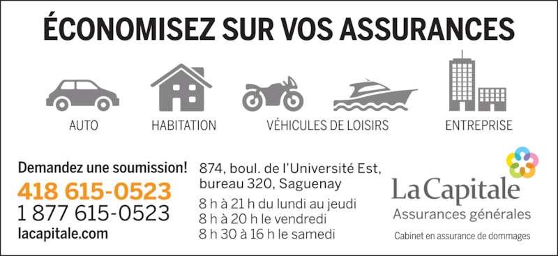 La Capitale Assurance et Services Financiers (418-615-0523) - Annonce illustrée======= -