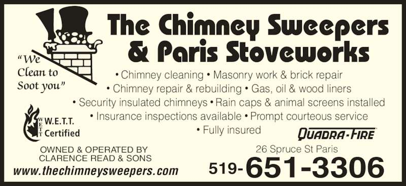Paris Stove Works Amp Chimney Cleaning Opening Hours 26