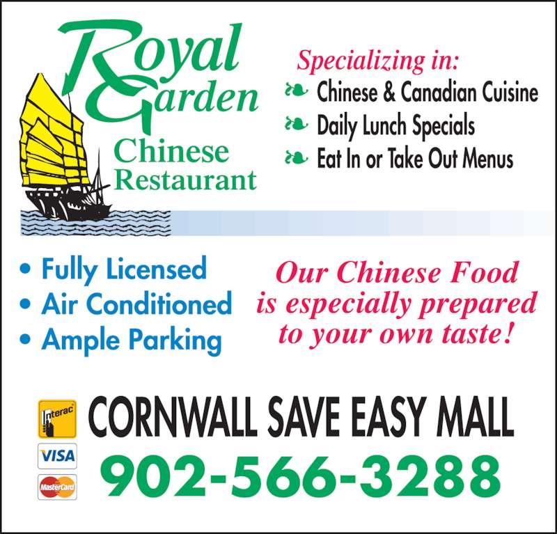 Royal Garden Chinese Restaurant (9025663288) - Display Ad - 902-566-3288
