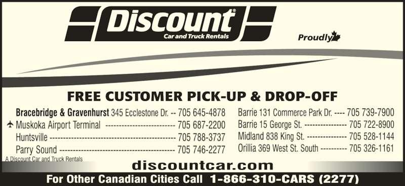 Discount Car Rental Bracebridge