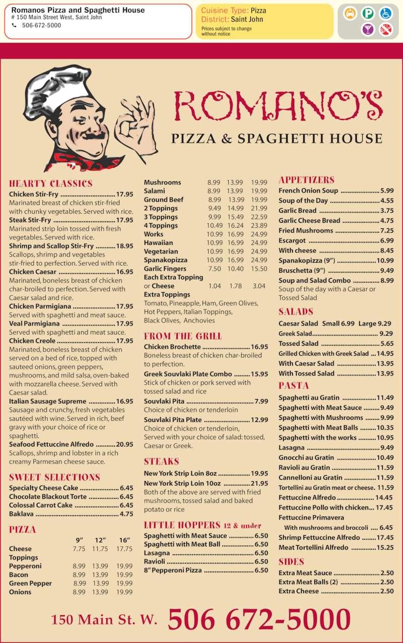 Italian Restaurant Saint John