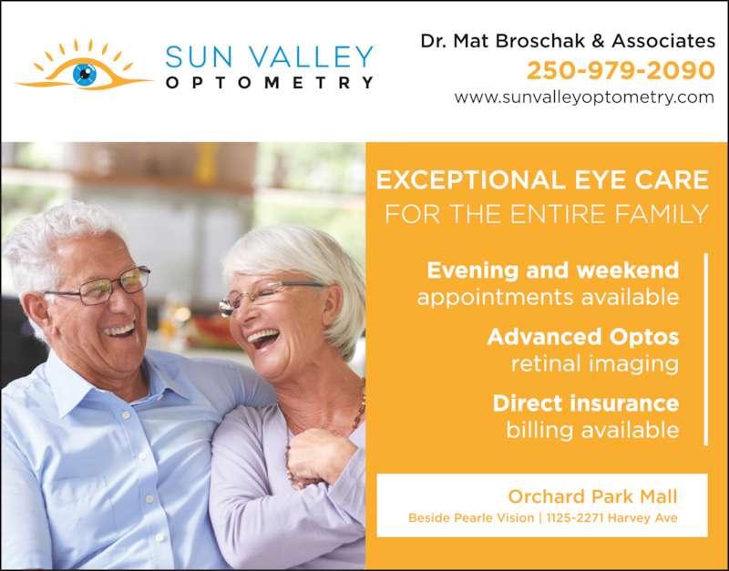 Sun Valley Optometry Kelowna Bc 1125 2271 Harvey Ave