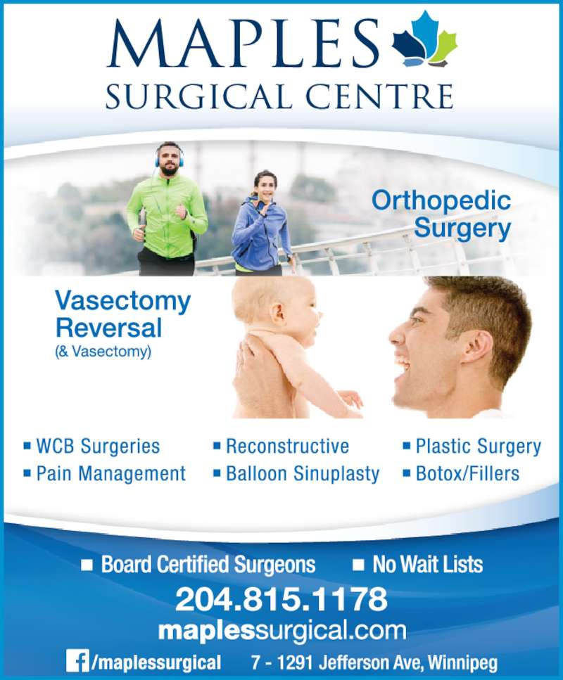 Maples Surgical Centre (204-633-1108) - Display Ad - 204.815.1178