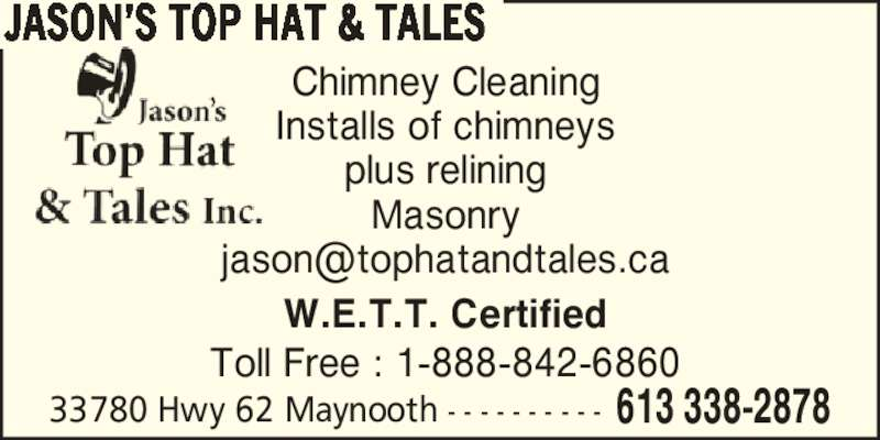 Top Hat Amp Tales Maynooth On 11 East Lake Rd Canpages