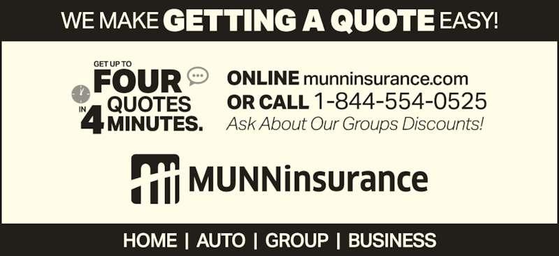 Munn Insurance Ltd (709-466-8100) - Display Ad -