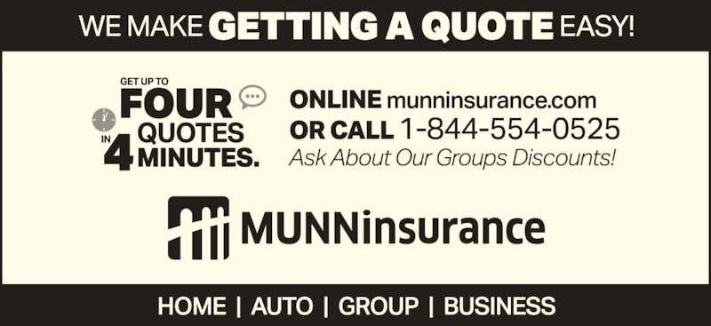 Munn Insurance (709-639-9201) - Display Ad -