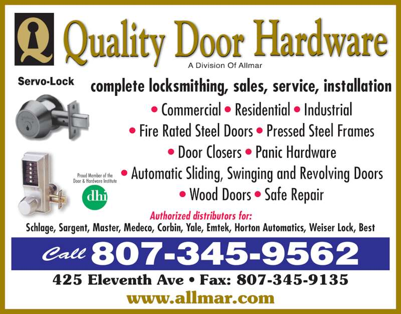 Quality door hardware thunder bay on 425 eleventh ave for Acme kitchen cabinets calgary