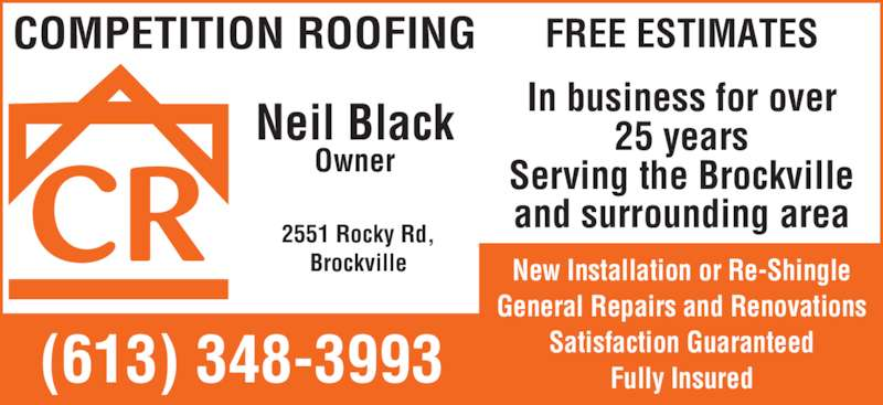 Competition Roofing Amp Renovations Brockville On 2551