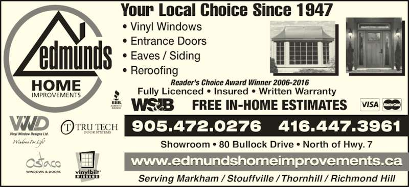 Edmunds Home Improvements Markham On 5 80 Bullock Dr