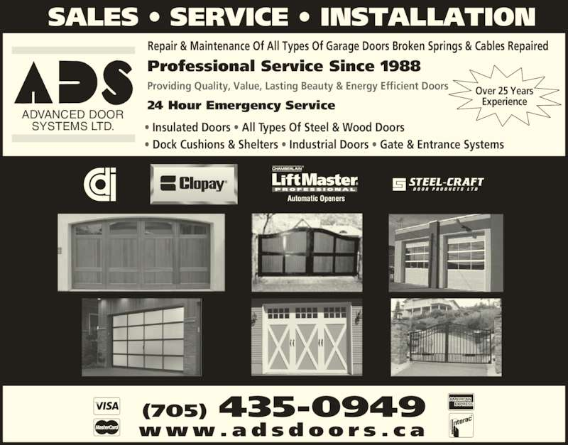 Advanced Door Systems Stayner On 7607 County Rd 91