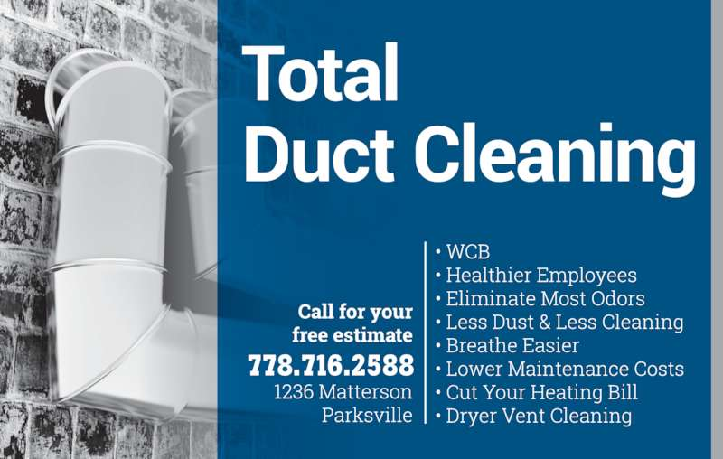 Total Duct Cleaning & Services Ltd (250-248-4941) - Display Ad - 778.716.2588