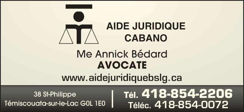 aide juridique cabano t miscouata sur le lac qc 38 rue saint philippe canpages fr. Black Bedroom Furniture Sets. Home Design Ideas