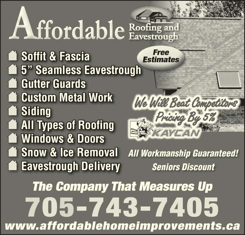 Affordable Roofing Amp Siding Peterborough On 474