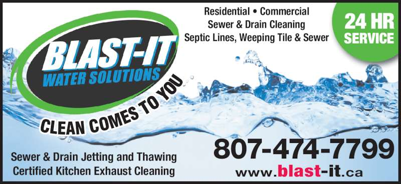 Blast It Water Solutions Opening Hours Thunder Bay On