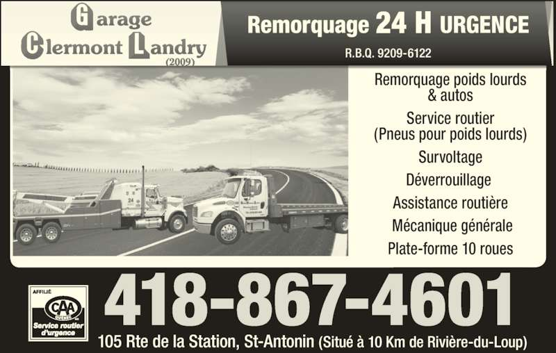 Garage clermont landry saint antonin qc 105 rte de for Garage ad st coulomb