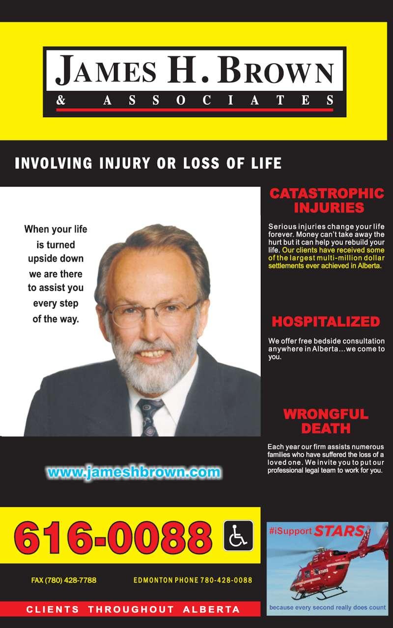 Alberta Injury Lawyers (1-800-616-0088) - Display Ad -