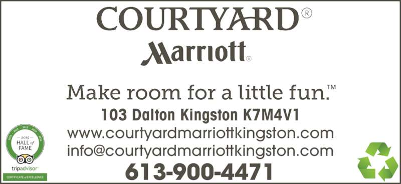 Courtyard by Marriott (613-548-7000) - Display Ad -