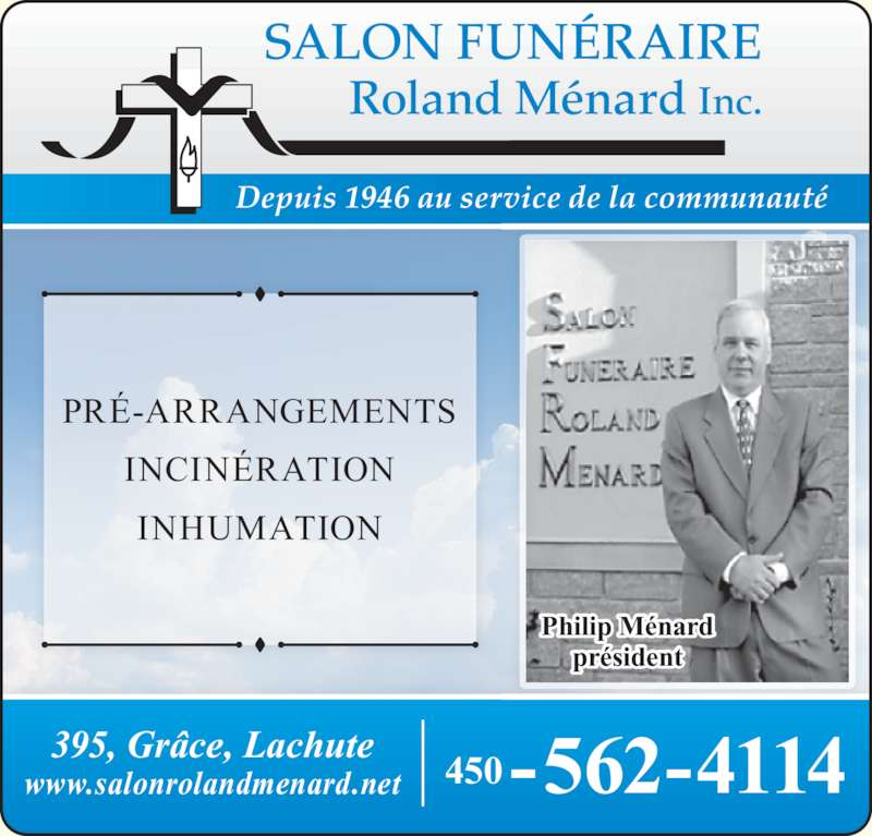 Salon fun raire roland m nard inc 395 rue gr ce for Salon funeraire