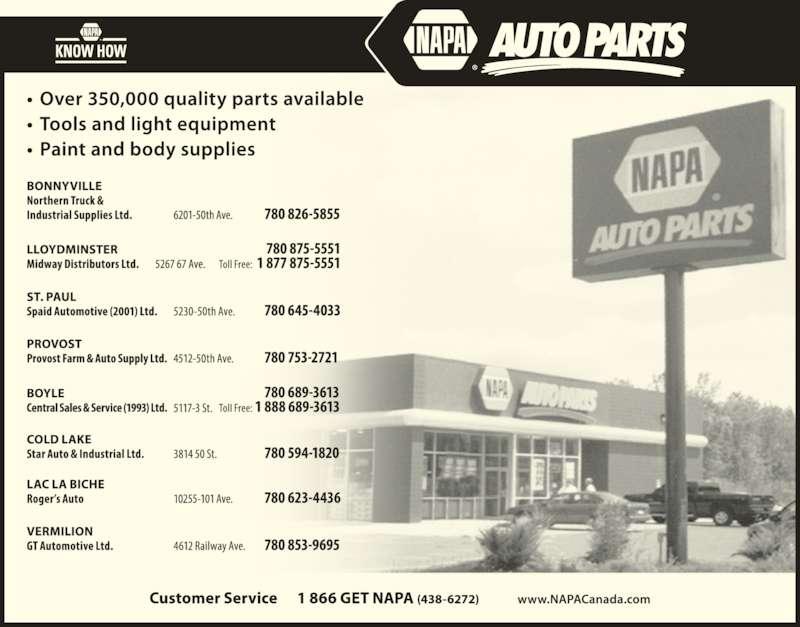 NAPA Auto Parts (780-594-1820) - Display Ad -