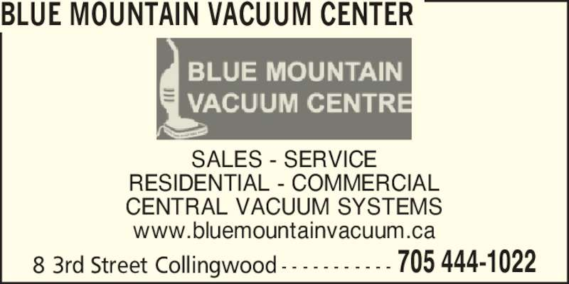 Blue Mountain Vacuum Centre Opening Hours 8 Third St