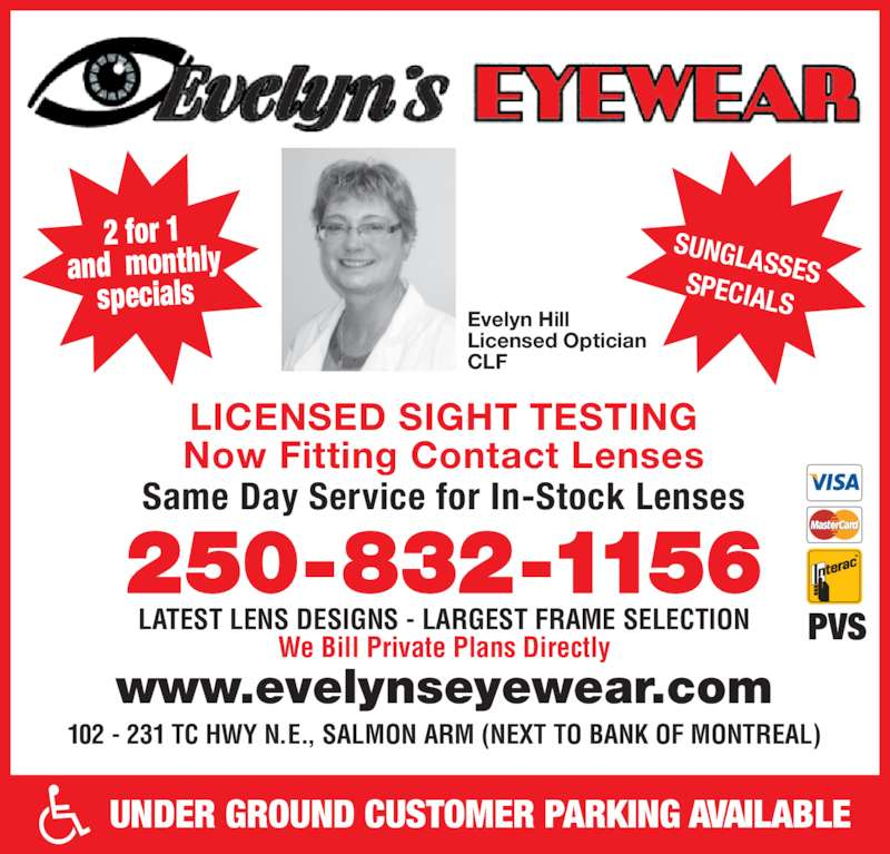 Evelyn S Eyewear Opening Hours 102 231 Trans Canada
